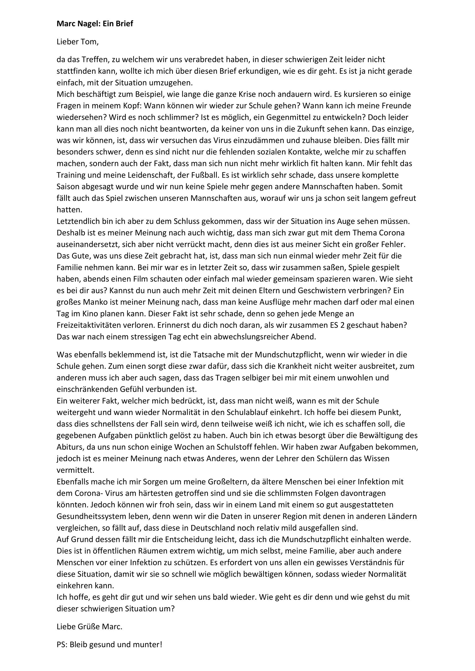 Ein Brief