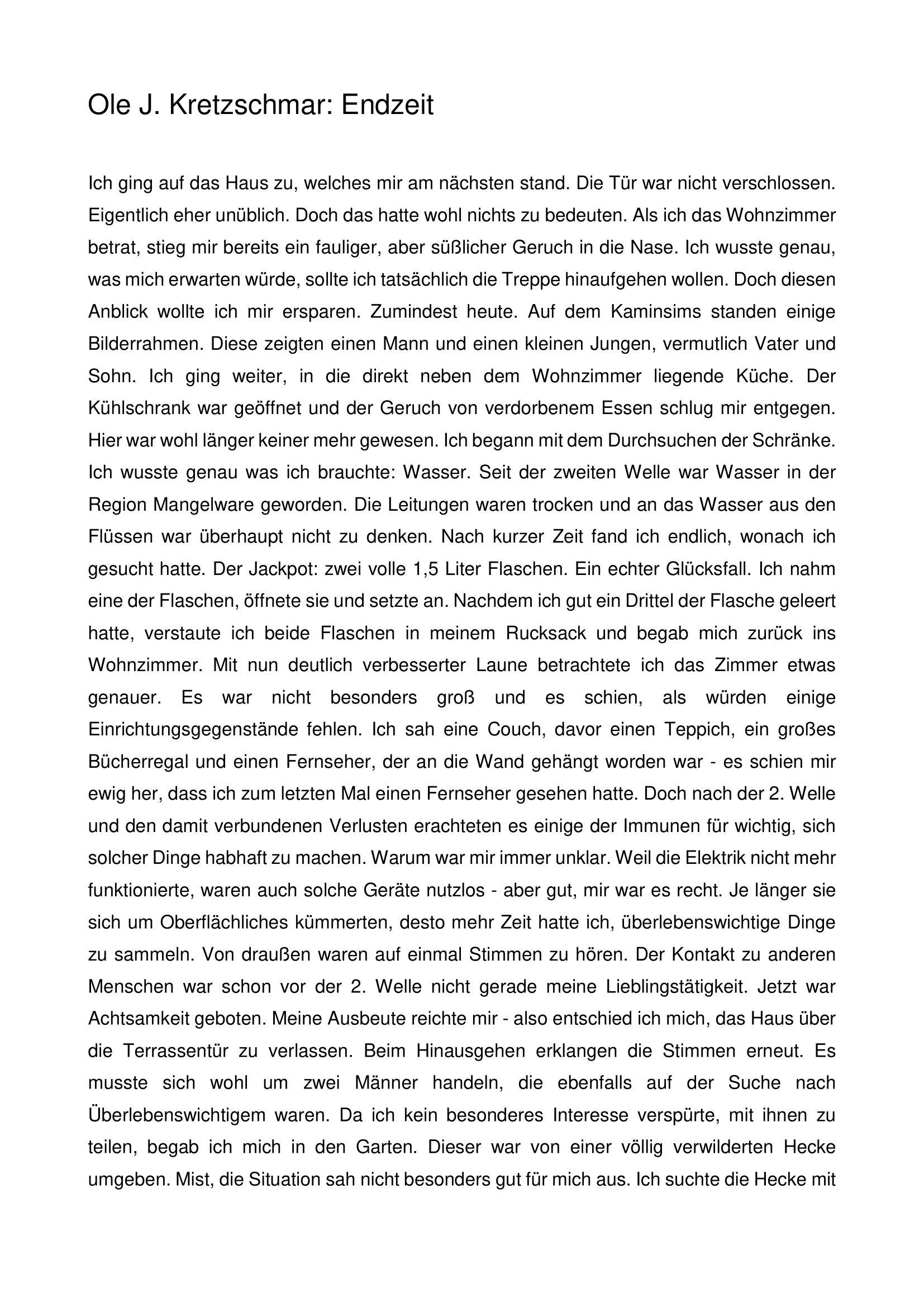 Endzeit (Teil 1)