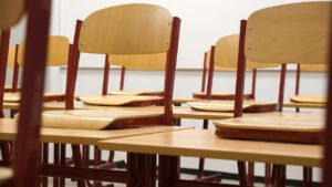 classroom, chairs, tables